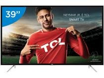 "Smart TV LED 39"" TCL Full HD L39S4900FS - Conversor Digital Wi-Fi 3 HDMI 2 USB"