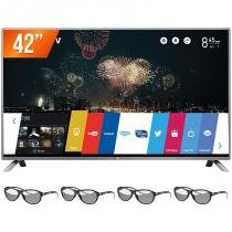 "Smart TV LED 3D 42"" LG Full HD WebOS Wi-Fi Integrado 42LB6500 + 4 Óculos 3D Controle Smart Magic - Lg"