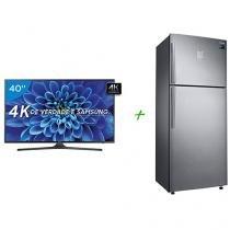 """Smart TV LED 40"""" Samsung 4K/Ultra HD 40KU6000 - Conversor Digital Wi-Fi + Geladeira/Refrigerador"""