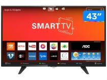 "Smart TV LED 43"" AOC Full HD LE43S5970 - Conversor Digital Wi-Fi 3 HDMI 2 USB"