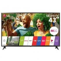 "Smart TV LED 43"" LG 43UJ6300, Ultra HD 4K, Wi-Fi, Painel IPS, HDMI, USB -"