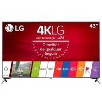 "Smart TV LED 43"" LG 43UJ6525 4K Ultra HD HDR, Wi-Fi, 120Hz, 2 USB, 4 HDMI, DTV -"