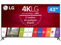 "Smart TV LED 43"" LG 4K/Ultra HD 43UJ6565 webOS - Conversor Digital 2 USB 4 HDMI"