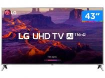 "Smart TV LED 43"" LG 4K/Ultra HD 43UK6520PSA - WebOs Conversor Digital Wi-Fi 4 HDMI 2 USB"