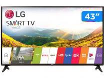 "Smart TV LED 43"" LG Full HD 43LJ5550 WebOS - Conversor Digital Wi-Fi 2 HDMI 1 USB"