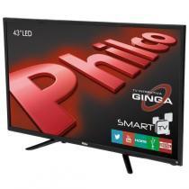 "Smart tv led 43"" ph43n91dsgwa android wi-fi philco - preta -"