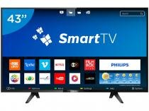 "Smart TV LED 43"" Philips 43PFG5102 Série 5102 - Conversor Digital 2 USB 3 HDMI"