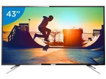 "Smart TV LED 43"" Philips 4K Ultra HD 43PUG6102/78 - Conversor Digital Wi-Fi 4 HDMI 2 USB DTVi"