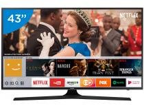 "Smart TV LED 43"" Samsung 4K/Ultra HD 43MU6100 - Tizen Conversor Digital Wi-Fi 3 HDMI 2 USB DLNA"