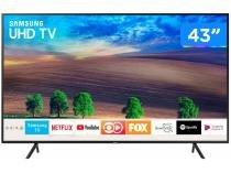 "Smart TV LED 43"" Samsung 4K/Ultra HD UN43NU7100 - Tizen Conversor Digital Wi-Fi 3 HDMI 2 USB DLNA"