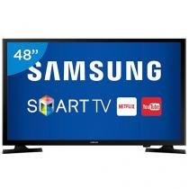 "Smart TV LED 48"" Samsung Full HD UN48J5200 - Conversor Digital Wi-Fi 2 HDMI 1 USB"