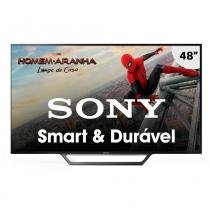 "Smart TV LED 48"" Sony KDL-48W655D Full HD com Wi-Fi 2 USB 2 HDMI Motinflow 240 e X-Reality PRO -"