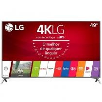 "Smart TV LED 49"" LG 49UJ6525 4K Ultra HD HDR, Wi-Fi, 120Hz, 2 USB, 4 HDMI, DTV -"