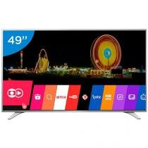 "Smart TV LED 49"" LG 4K Ultra HD 49UH6500 - Conversor Digital 3 HDMI 2 USB Wi-Fi"
