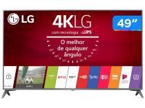 "Smart TV LED 49"" LG 4K/Ultra HD 49UJ6565 webOS - Conversor Digital 4 HDMI 2 USB"