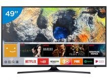"Smart TV LED 49"" Samsung 4K Ultra HD 49MU6100 - Conversor Digital Wi-Fi 3 HDMI 2 USB"