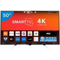 "Smart TV LED 50"" AOC 4K/Ultra HD LE50U7970 - Conversor Digital Wi-Fi 4 HDMI 2 USB"