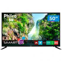 "Smart TV LED 50"" Philco PTV50D60SA Full HD - Android Wi-Fi Conversor Digital 2 HDMI 2 USB"