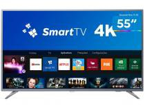 "Smart TV LED 55"" Philips 4K/Ultra HD 55PUG6513/78 - Conversor Digital Wi-Fi 3 HDMI 2 USB"