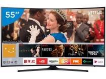 """Smart TV LED 55"""" Samsung 4K/Ultra HD MU6300 - Conversor Digital Wi-Fi 3 HDMI 2 USB DLNA"""