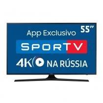 "Smart TV LED 55"" Samsung 55MU6100, Ultra HD 4K, Steam Link, 3 HDMI, 2 USB -"