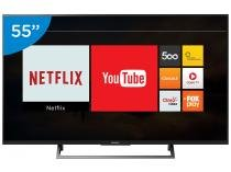 "Smart TV LED 55"" Sony 4K/Ultra HD KD-55X705E - Conversor Digital Wi-Fi 3 HDMI 3 USB"
