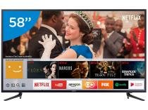"Smart TV LED 58"" Samsung 4K/Ultra HD 58MU6120 - Conversor Digital 3 HDMI 2 USB"