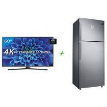 """Smart TV LED 60"""" Samsung 4K/Ultra HD 60KU6000 - Conversor Digital Wi-Fi + Geladeira/Refrigerador"""