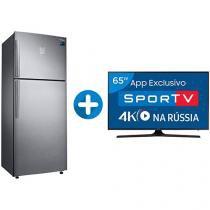 "Smart TV LED 65"" Samsung 4K/Ultra HD 65MU6100 - Conversor Digital + Geladeira/Refrigerador Samsung"