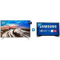 "Smart TV LED 65"" Samsung 4K/Ultra HD 65MU7000 - Conversor Digital Wi-Fi + Smart TV LED 32"" Samsung"