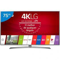 "Smart TV LED 75"" LG 4K/Ultra HD 75UJ6585 WebOs - Conversor Digital 2 USB 4 HDMI"