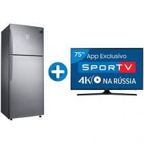 "Smart TV LED 75"" Samsung 4K/Ultra HD 75MU6100 - Conversor Digital + Geladeira/Refrigerador Samsung"