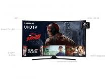 "Smart TV LED Curva 49"" Samsung 4K Ultra HD  - 49KU6300 Conversor Digital 3 HDMI 2 USB"
