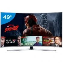 "Smart TV LED Curva 49"" Samsung 4K/Ultra HD  - KU6500 Conversor Digital Wi-Fi 3 HDMI 2 USB"