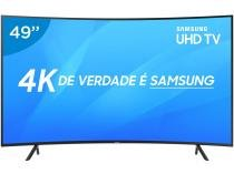 "Smart TV LED Curva 49"" Samsung 4K/Ultra HD NU7300 - Tizen Conversor Digital Wi-Fi 3 HDMI 2 USB DLNA"