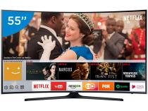 "Smart TV LED Curva 55"" Samsung 4K/Ultra HD - 55MU6300 Conversor Digital Wi-Fi 3 HDMI 2 USB DLNA"