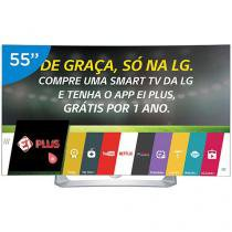 "Smart TV OLED Curva 55"" LG Full HD 3D 55EG9100 - Conversor Digital 3 HDMI 3 USB Wi-Fi 4 Óculos"