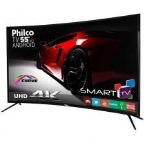 """Smart TV Philco LED 55"""" PH55A16DSGWA Curve 4K, 3 HDMI, 2 USB -"""