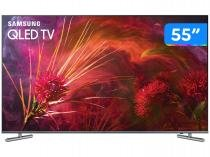 "Smart TV QLED 55"" Samsung 4K/Ultra HD Q6F - Tizen Conversor Digital 4 HDMI 3 USB DLNA"