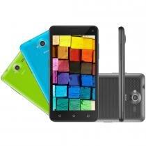 Smartphone 3G Quad Core Dual Chip Preto MS50 - Multilaser - Multilaser