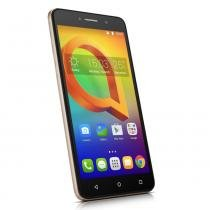 Smartphone Alcatel A2 XL HD Dourado, Tela 6Pol HD, Memória 16GB, Câmeras com flash 13MP+ 8MP, Quad Core, Android 5.1, Dual Chip, 3G -