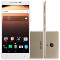 "Smartphone Alcatel A3 XL 16GB Dourado Dual Chip - 4G Câm. 8MP + Frontal 5MP 6"" HD Proc. Quad Core"
