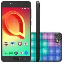 "Smartphone Alcatel A5 16GB Prata Dual Chip 4G - Câm. 16MP + Selfie 8MP Tela 5.2"" Capa LED"