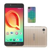 Smartphone Alcatel A5 Max LED Edition Dourado Octa-Core 32GB 3GB RAM + Capa de LED Interativa -