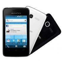 Smartphone Alcatel OT-4028E PIXI 3 4,5 Preto com Capa Branca - Alcatel