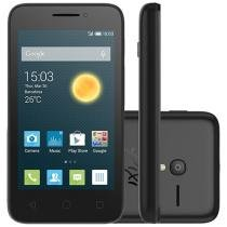 "Smartphone Alcatel PIXI3 4 Preto Dual Chip 3G - Câm. 8MP Tela 4"" Proc. Dual Core Desbl. Vivo"