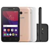 "Smartphone Alcatel PIXI4 4 Metalic 8GB Prata - Dual Chip 3G Câm. 8MP Tela 4"" Proc. Quad Core"