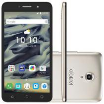 "Smartphone Alcatel PIXI4 6 8GB Dourado Dual Chip - 3G Câm. 13MP + Selfie 8MP Flash Tela 6"" Quad Core"