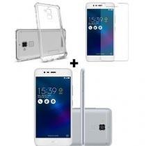 Smartphone Asus Zc520 Zenfone 3 Max 16GB Prata + Capa protetora + película -