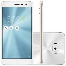 "Smartphone Asus ZenFone 3 64GB Branco Dual Chip - 4G Câm. 16MP + Selfie 8MP Tela 5.5"" Proc. Qualcomm"